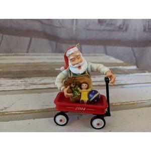 Hallmark Keepsake 2004 Toymaker Santa Claus Red Wa
